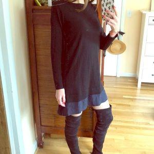 NWT CLUB MONACO black wool sweater dress size s